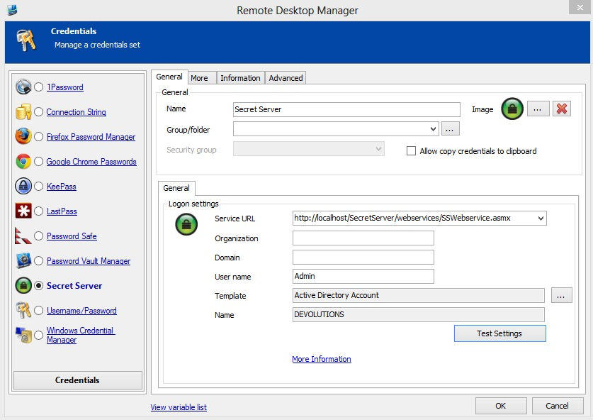 Screenshot - Remote Desktop Manager
