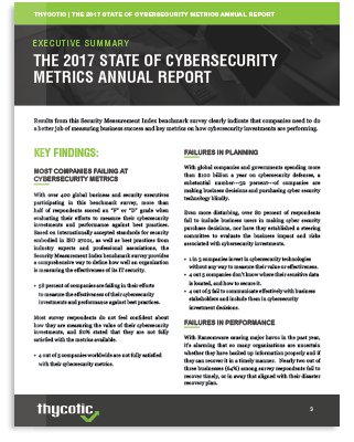 The 2017 State of Cybersecurity Metrics Annual Report