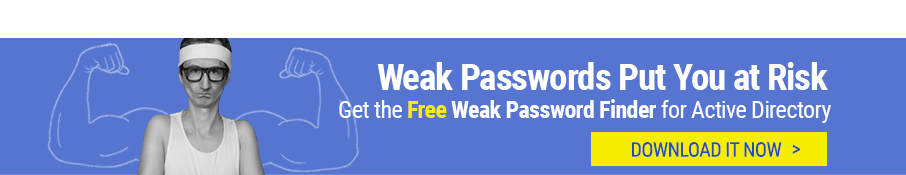 Get the free Weak Password Finder for AD