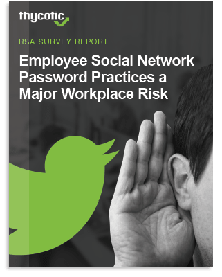 Employee Social Network Password Practices A Major Workplace Risk