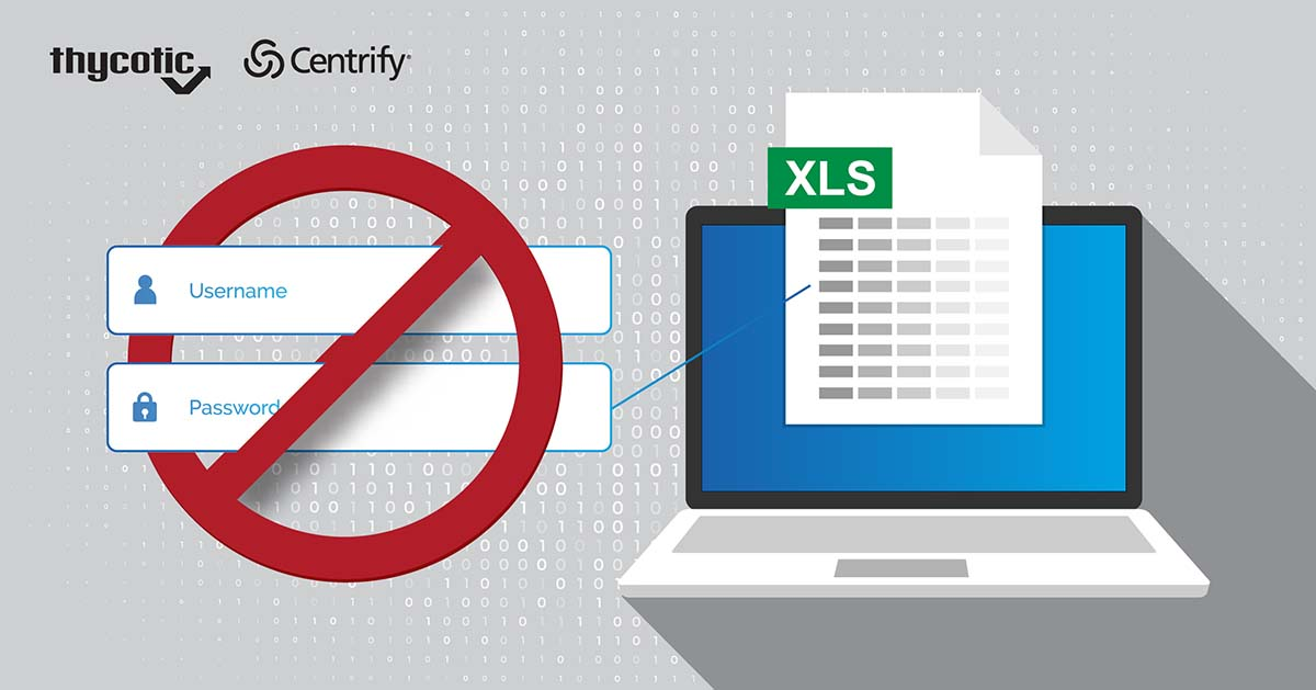 Don't use Excel Spreadsheets to Store or Manage Passwords