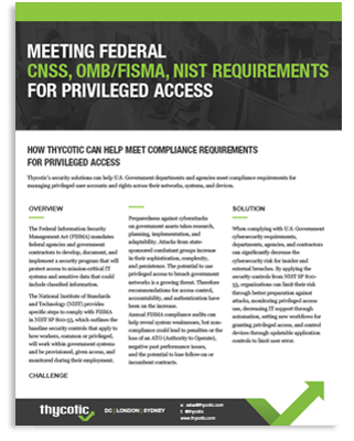 Meeting Federal CNSS, OMB / FISMA, NIST Requirements