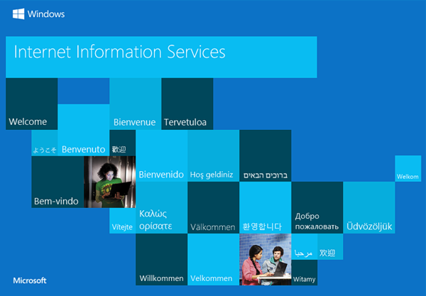 Windows Internet Information Services Welcome Screen