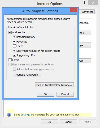 Prevent Users from enabling Auto Complete
