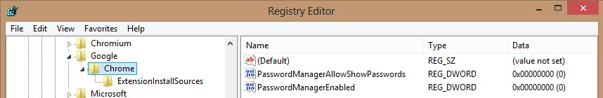 Disable Password Caching in Google Chrome - Google Chrome Password Manager can be disabled through Windows GPO