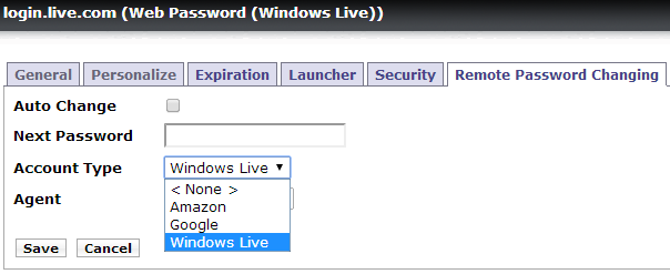 Remote Password Changing for a Windows Live Account