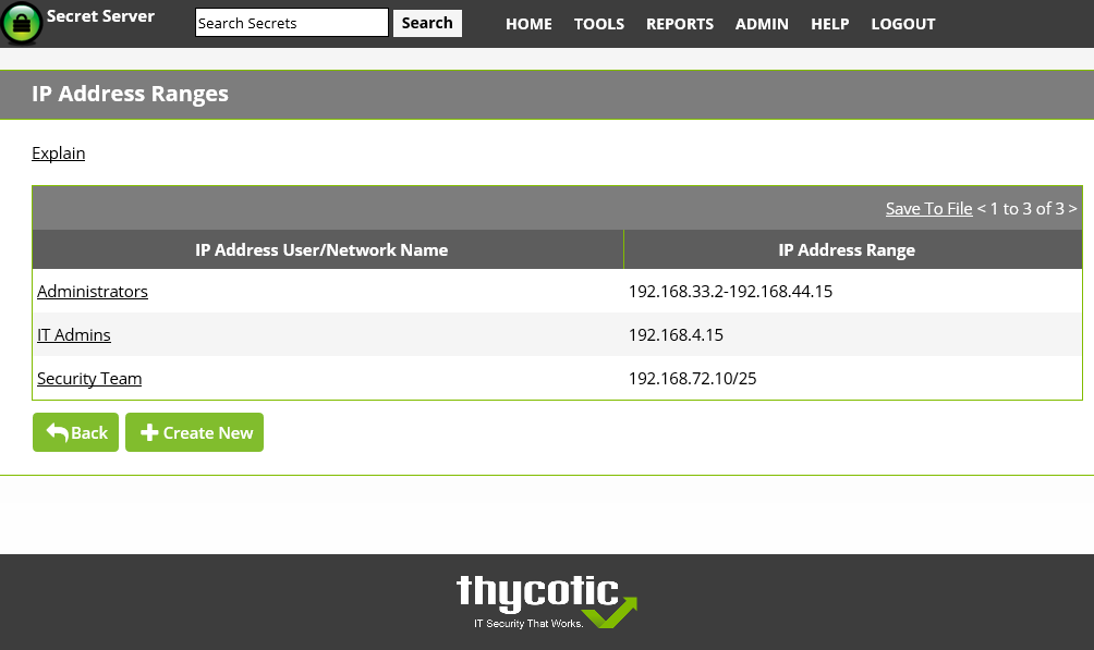 IP Address Restrictions in Secret Server