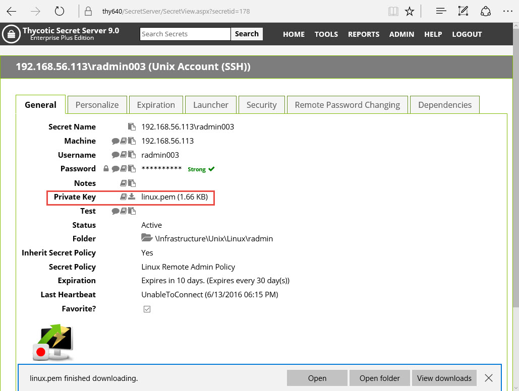 Protect sensitive files. Files can be attached while creating or editing a Secret.