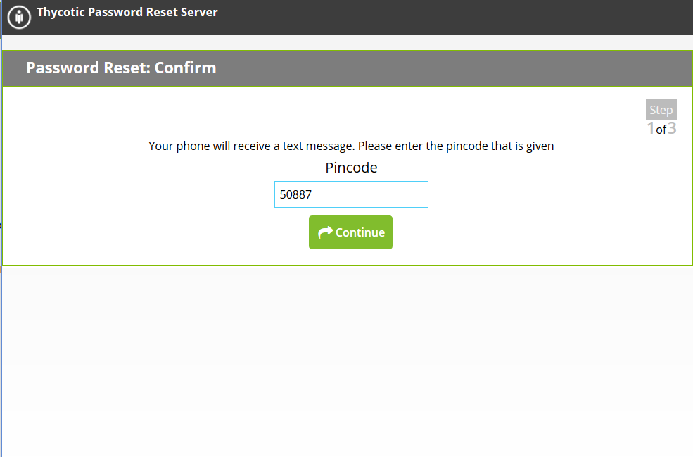 Passsword Reset Tool   Self-reset with SMS verification