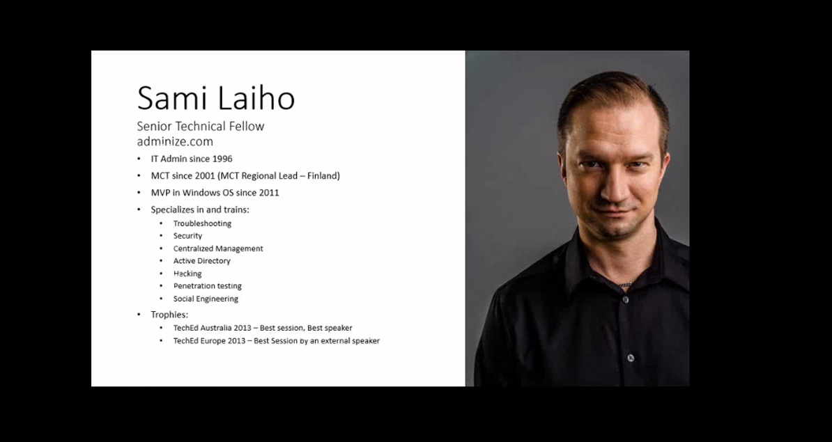 Sami Laiho Senior Technical Fellow