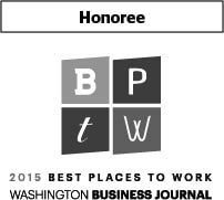 Award - Best Places to Work Honoree, 2015