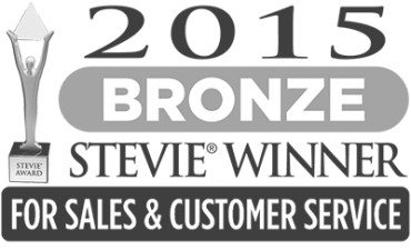 Award - 2015 Bronze Stevie Winner for Sales and Customer Service