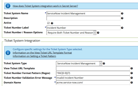 Configuring ServiceNow Integration