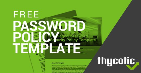 Free Password Security Policy Template