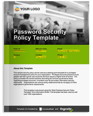 It security resources for privileged account management for It security policy templates