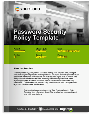 Password Security Policy Template