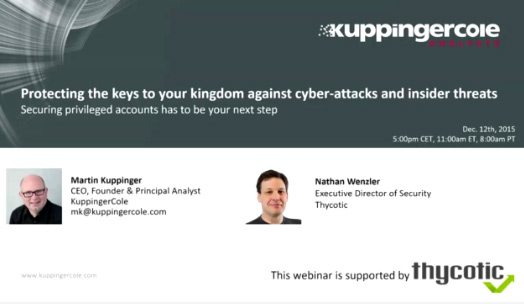 Kuppinger Cole Webinar - Cyber Attacks and Insider Threats