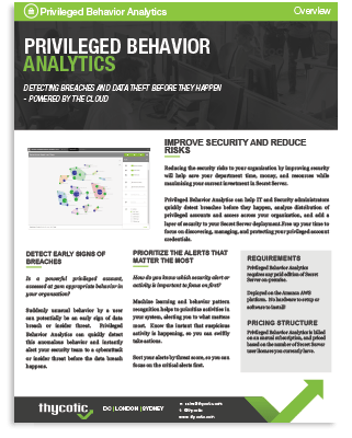Privileged Behavior Analytics