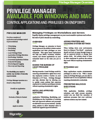 Privilege Manager for Windows and Mac