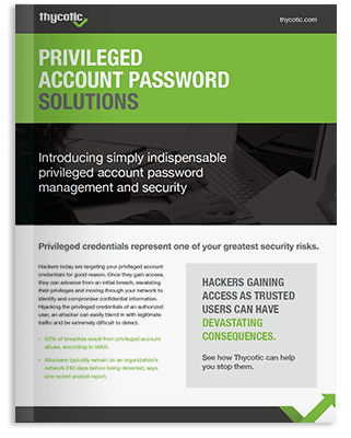 Privileged Account Password Solutions Brochure