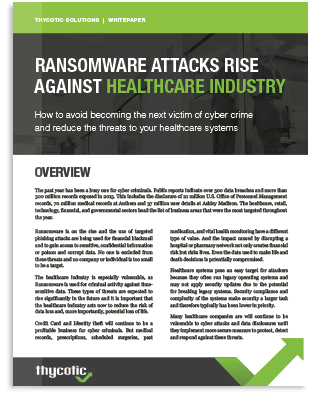 Ransomware Attack Rise In Healthcare Industry