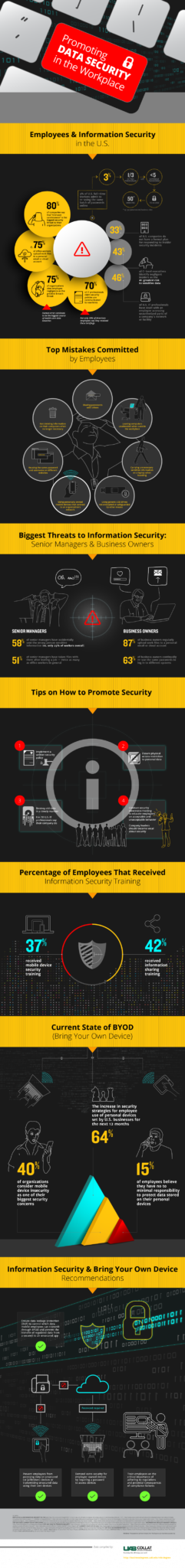 Data Security & Information Security in the Workplace | Infographic | Statistics