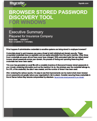 Browser Stored Password Discovery Tool