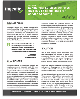 EdFinancial Services Achieves NIST Compliance for Service Accounts