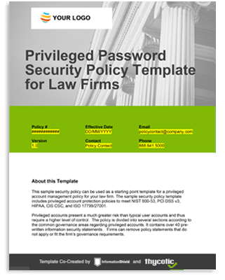 Privileged Account Policy Template For Legal