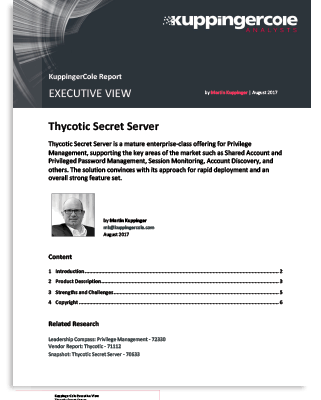 KuppingerCole Executive Review - Secret Server Privileged Access Management