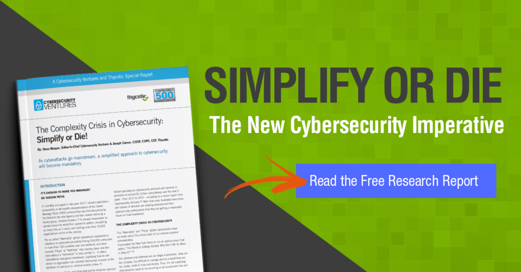 The complexity crisis in cybersecurity - the new cybersecurity imperative. Read the free research report here.