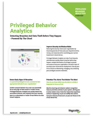 Privileged Behavior Analytics Datasheet