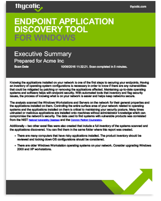 Endpoint Application Discovery Tool for Windows