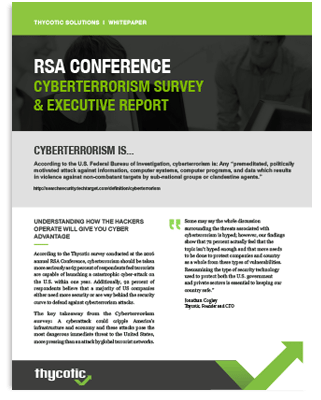 RSA Conference Cyberterrorism Survey & Executive Report