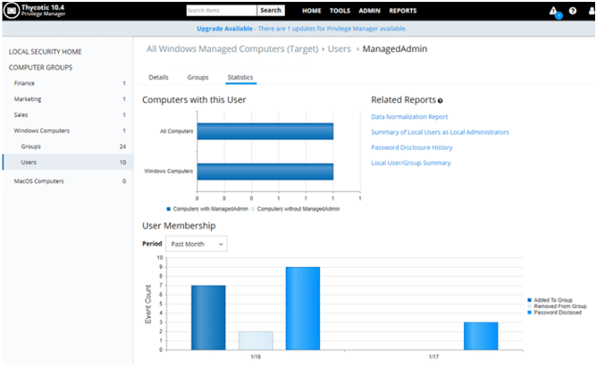 Thycotic's Privilege Manager 10.4 New User Interface