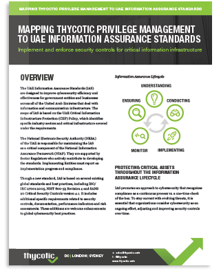 Meet PAM Compliance Requirements for UAE Information Assurance Standards