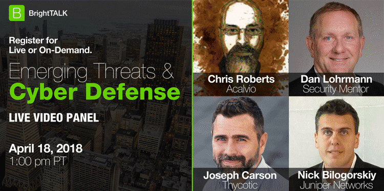 Emerging threats and cyber defense BrightTALK