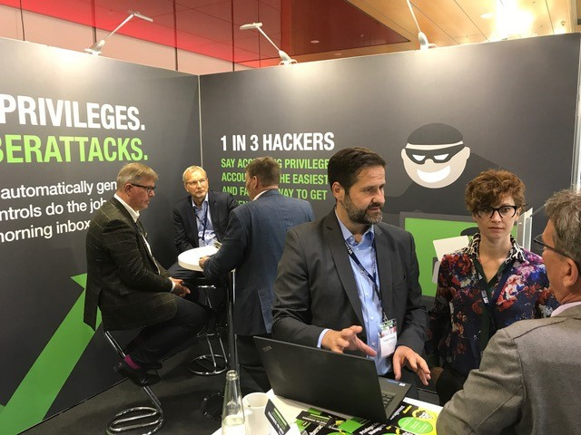 Thycotic's booth at the European Identity & Cloud Conference 2018