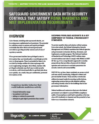 Meet PAM Compliance Requirements for NIST FISMA