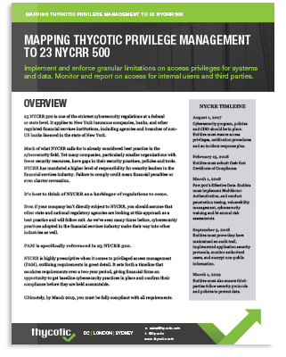 Meet PAM Compliance Requirements for 23 NYCRR 500