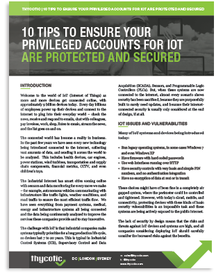 10 Tips to Ensure Privileged Accounts for IoT