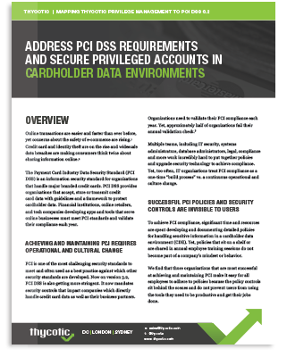 Meet PAM Compliance Requirements for PCI-DSS