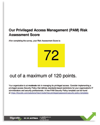 PAM Risk Assessment Tool