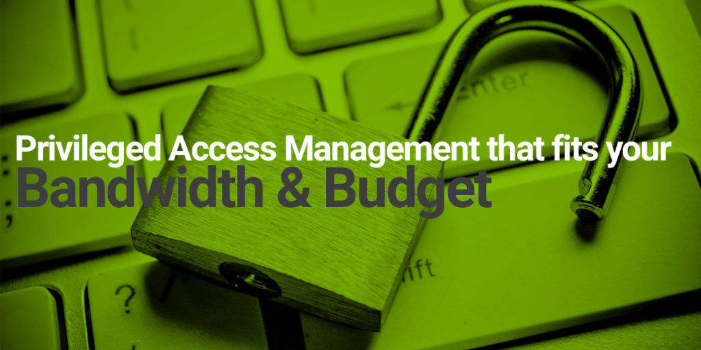 Privileged Access Management that fits your Bandwidth and Budget