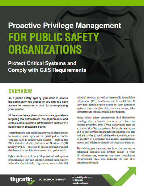 Privilege Management for Public Safety Organizations and Police Departments