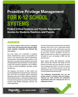 Proactive Privilege Management For K12 Schools