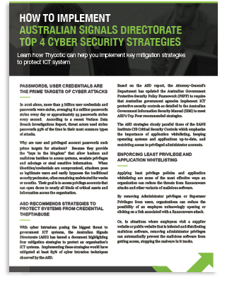 How To Implement ASD Top 4 Cyber Security Strategies