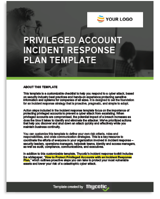 Privileged Account Incident Response Plan Template
