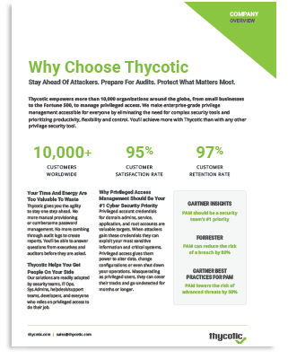 Thycotic Overview Brochure