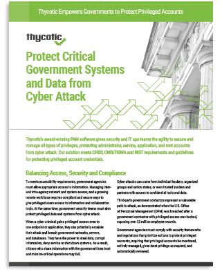 Protect Critical Government Systems and Data from Cyber Attack